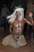 Pygmy dancer with a headgear