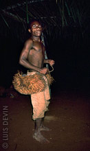Pygmy dancer during a healing dance