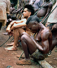 Luis Devin during a ritual ceremony of the Baka Pygmy initiation rites