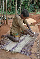 Pygmy mat woven with plant fibers